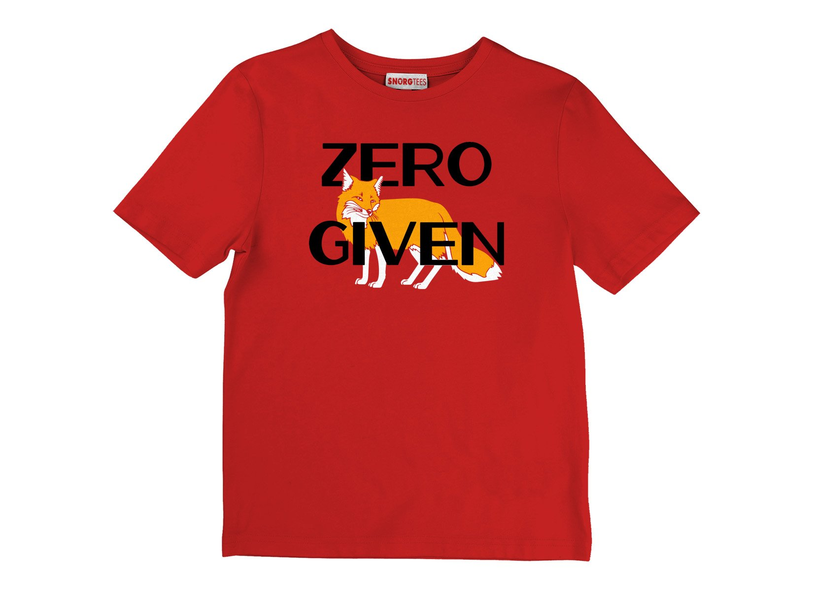 Zero Fox Given on Kids T-Shirt