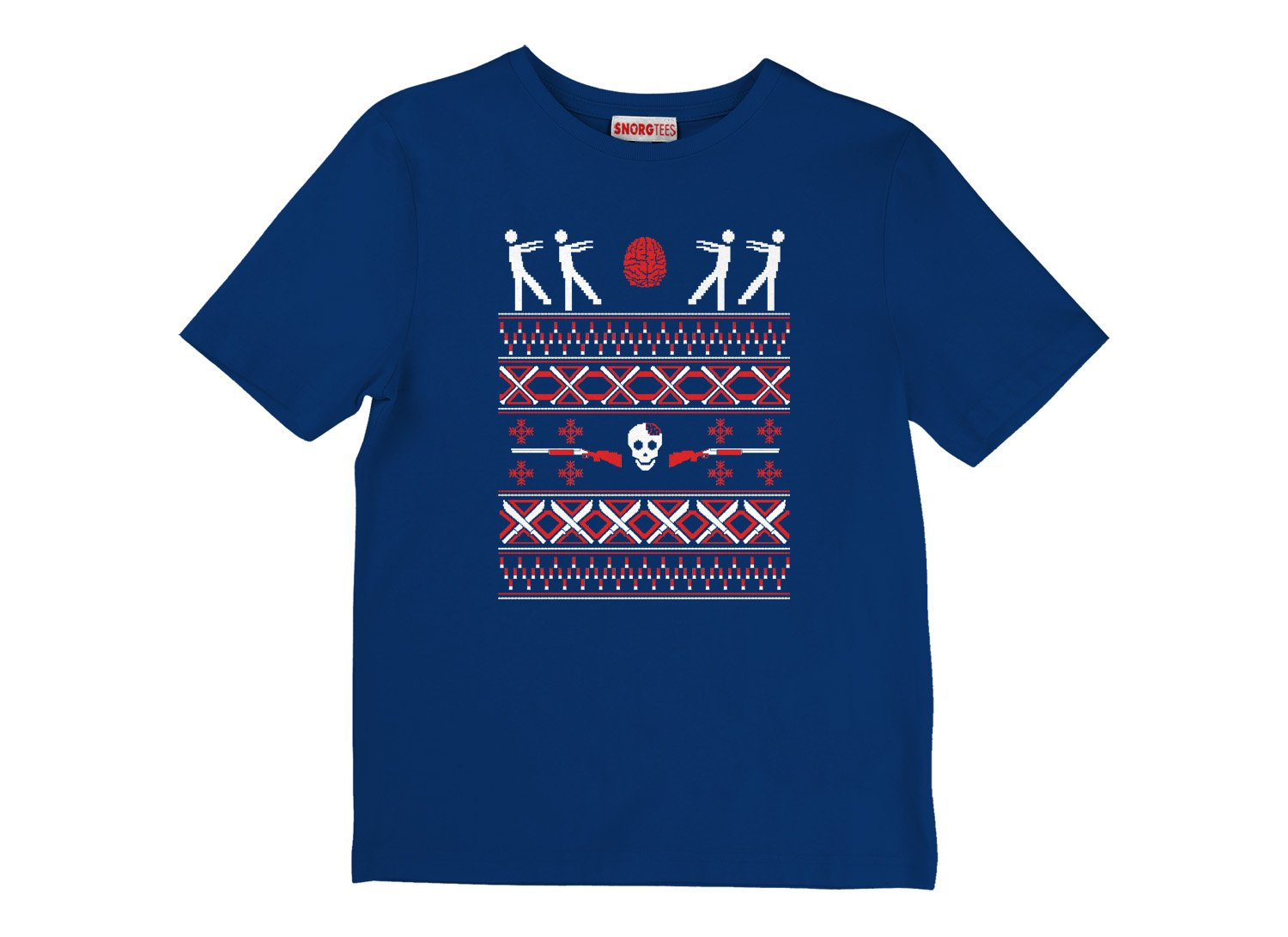 Zombie Christmas Sweater on Kids T-Shirt