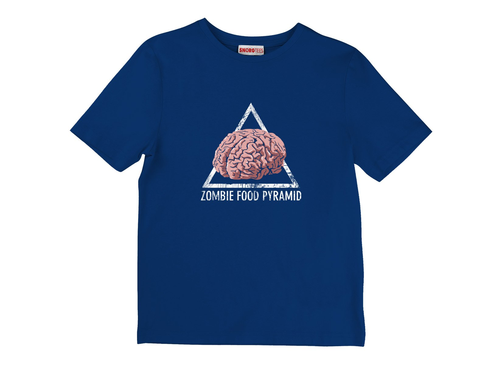 Zombie Food Pyramid on Kids T-Shirt