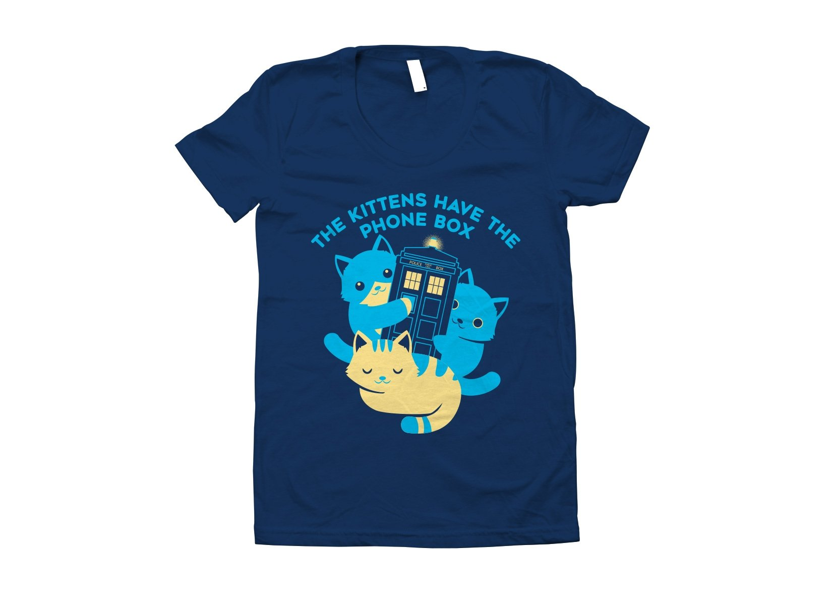 The Kittens Have The Phone Box on Juniors T-Shirt