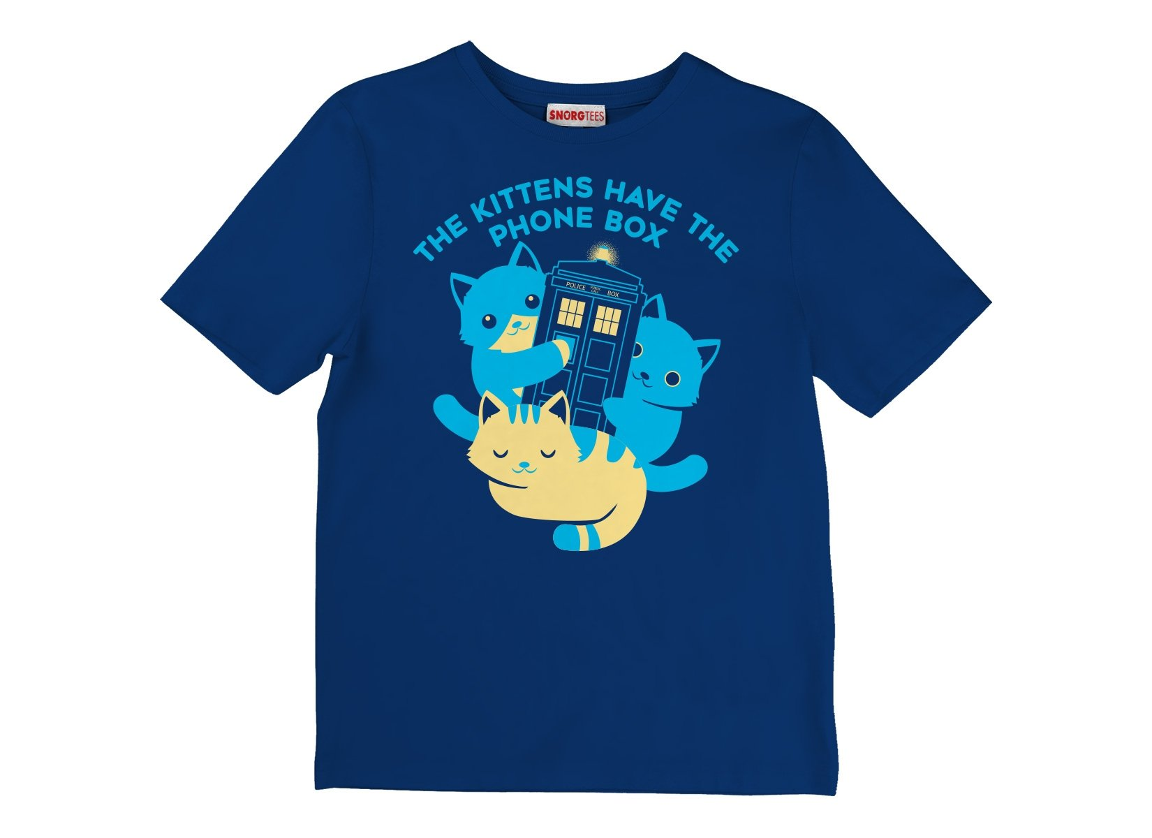 The Kittens Have The Phone Box on Kids T-Shirt