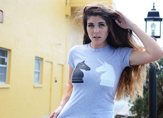 Chess Unicorn on Juniors T-Shirt