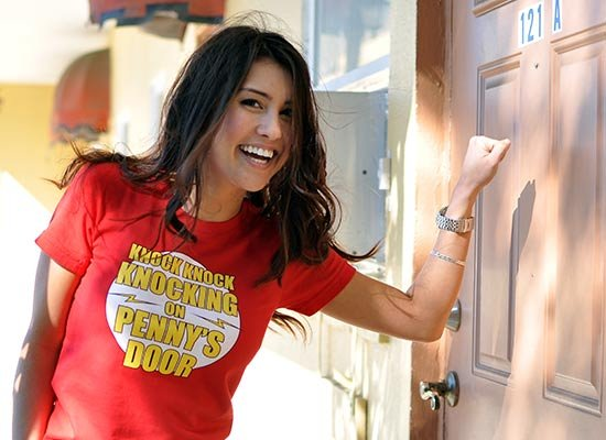 Knock Knock Knocking On Penny's Door on Juniors T-Shirt