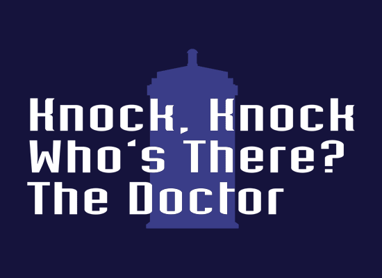 Knock Knock! Who's There? The Doctor on Mens T-Shirt
