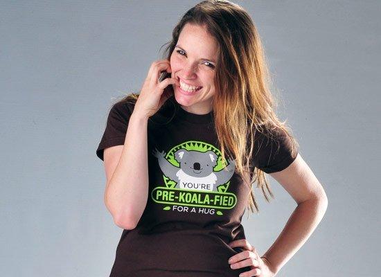 You're Pre-Koala-Fied For A Hug on Juniors T-Shirt