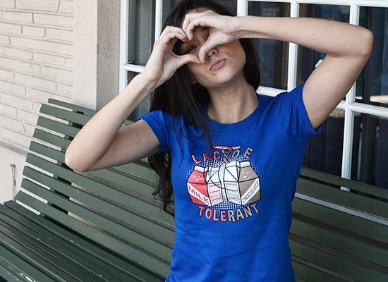 Lactose Tolerant on Juniors T-Shirt