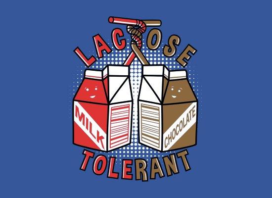 Lactose Tolerant on Mens T-Shirt