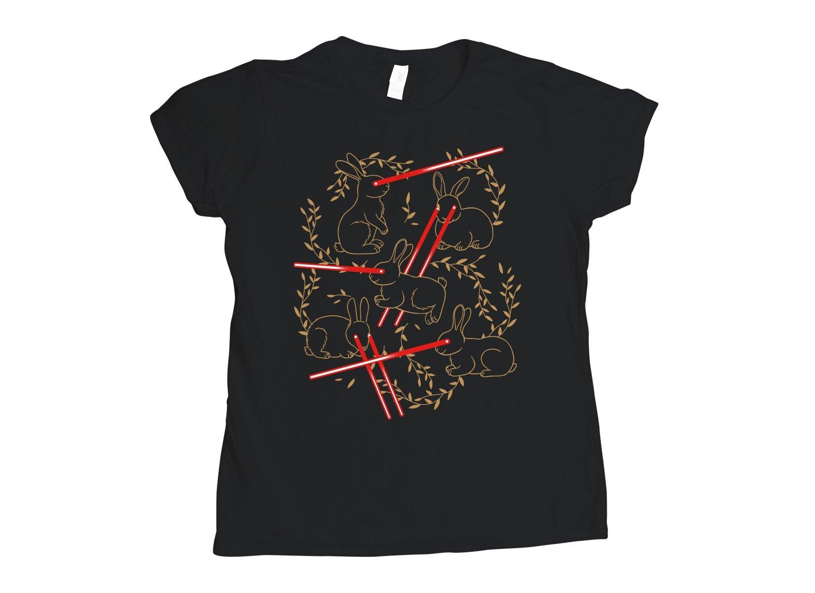 Laser Buns on Womens T-Shirt