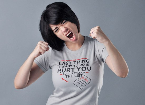 The Last Thing I Want To Do Is Hurt You on Juniors T-Shirt