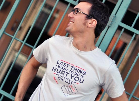 The Last Thing I Want To Do Is Hurt You on Mens T-Shirt