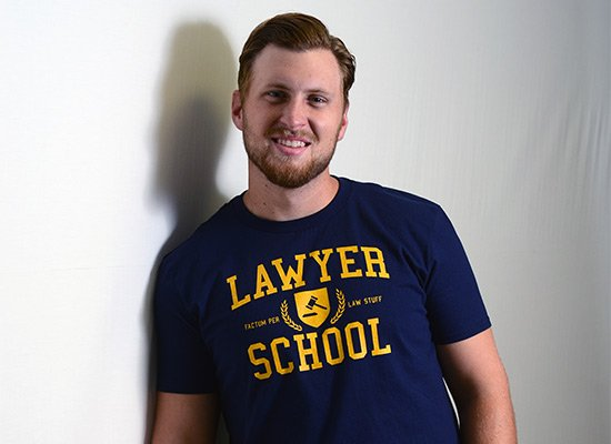 Lawyer School on Mens T-Shirt