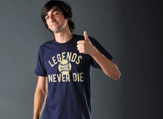 Legends Never Die on Mens T-Shirt