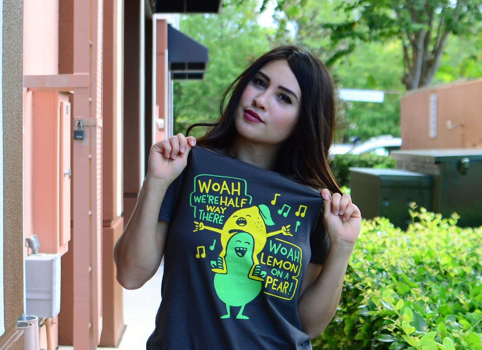 Lemon On A Pear on Womens T-Shirt