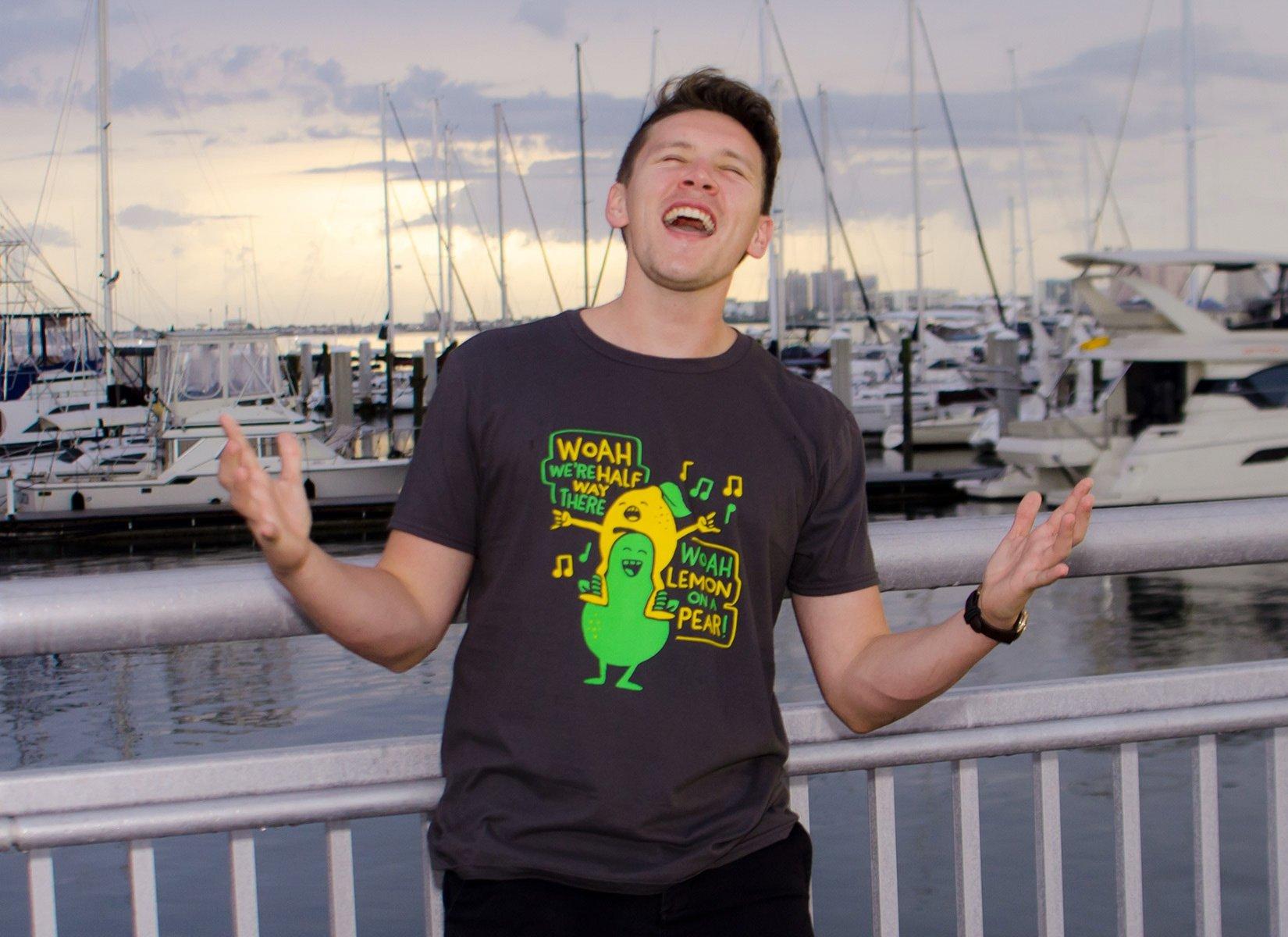 Lemon On A Pear on Mens T-Shirt