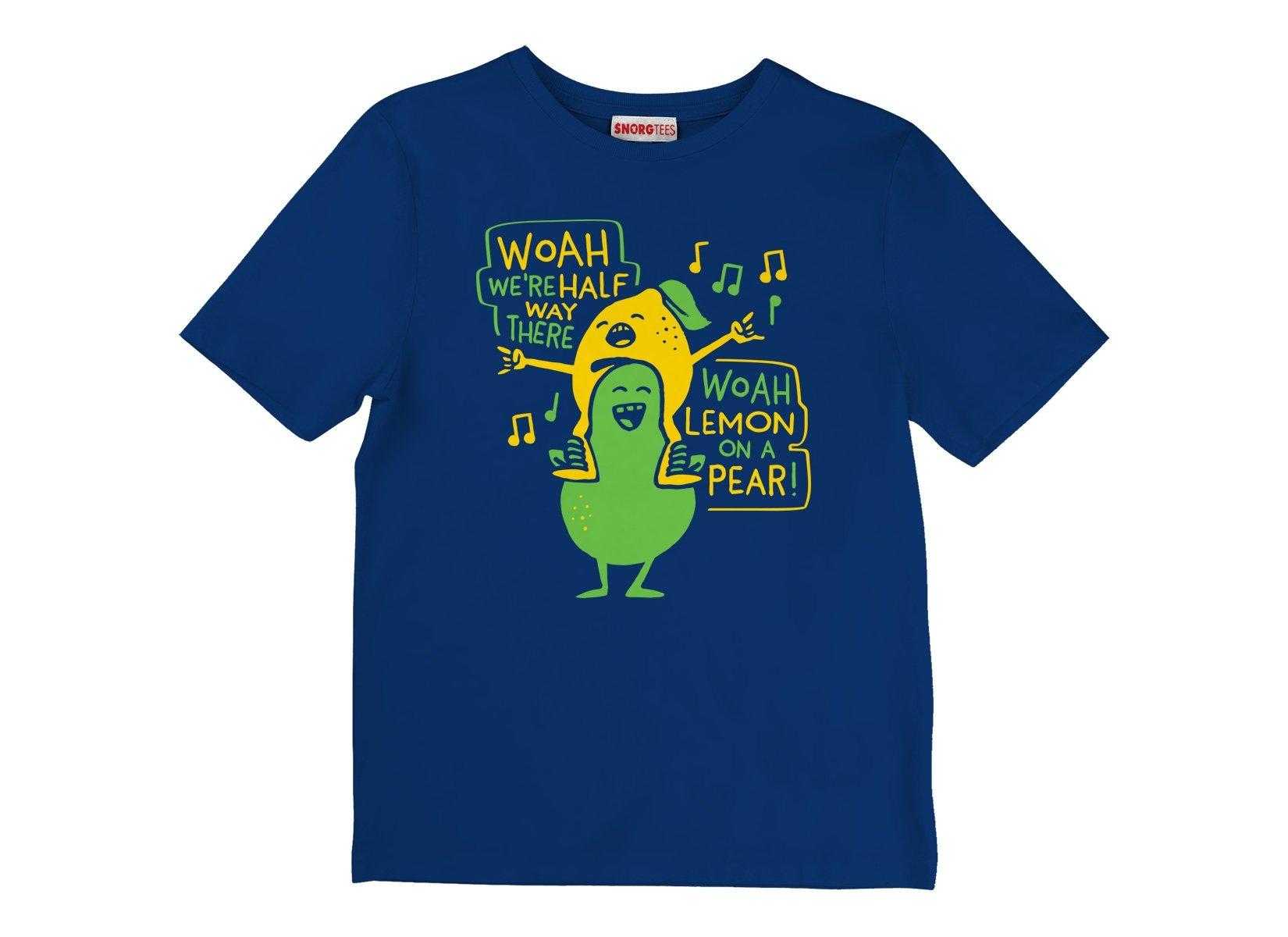 Lemon On A Pear on Kids T-Shirt