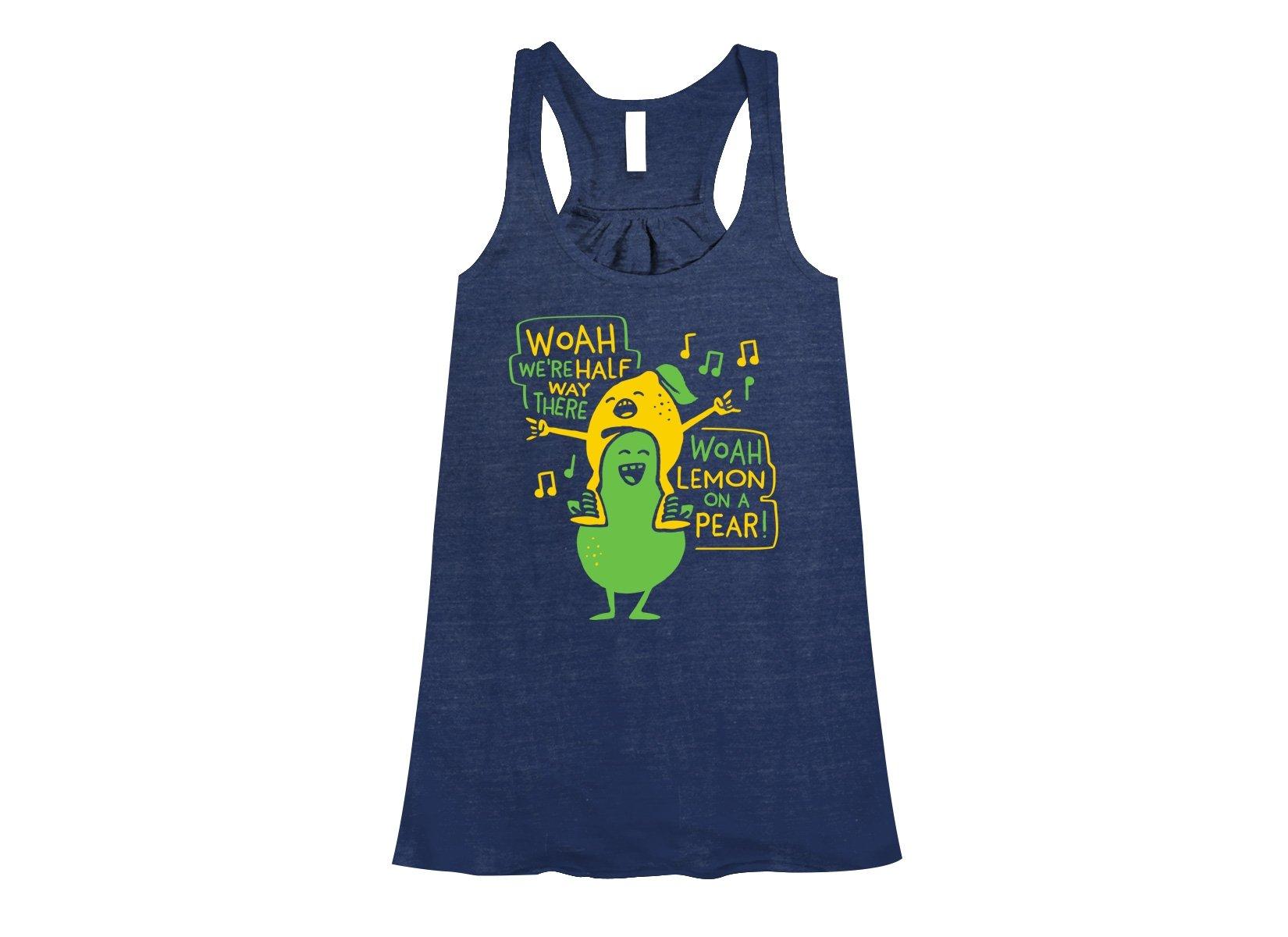 Lemon On A Pear on Womens Tanks T-Shirt