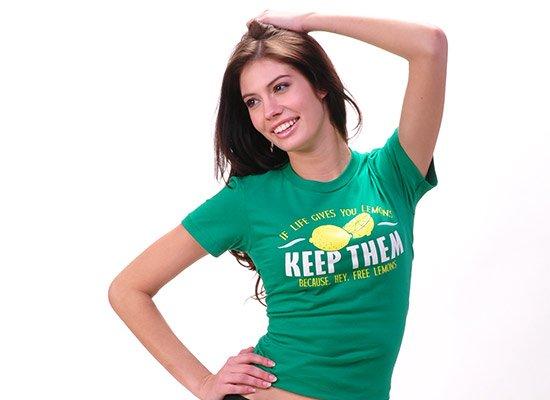 If Life Gives You Lemons on Juniors T-Shirt