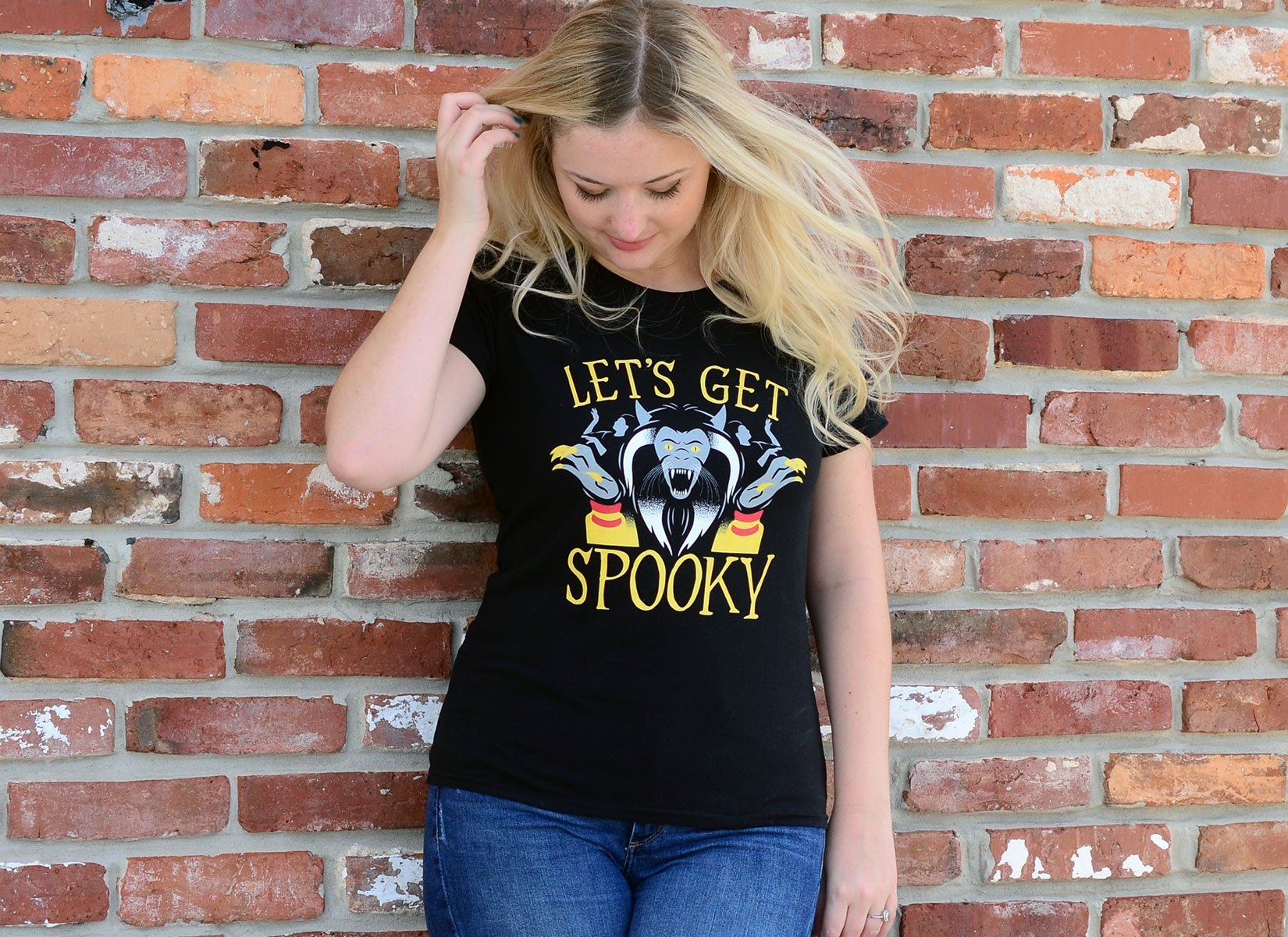 Let's Get Spooky on Womens T-Shirt