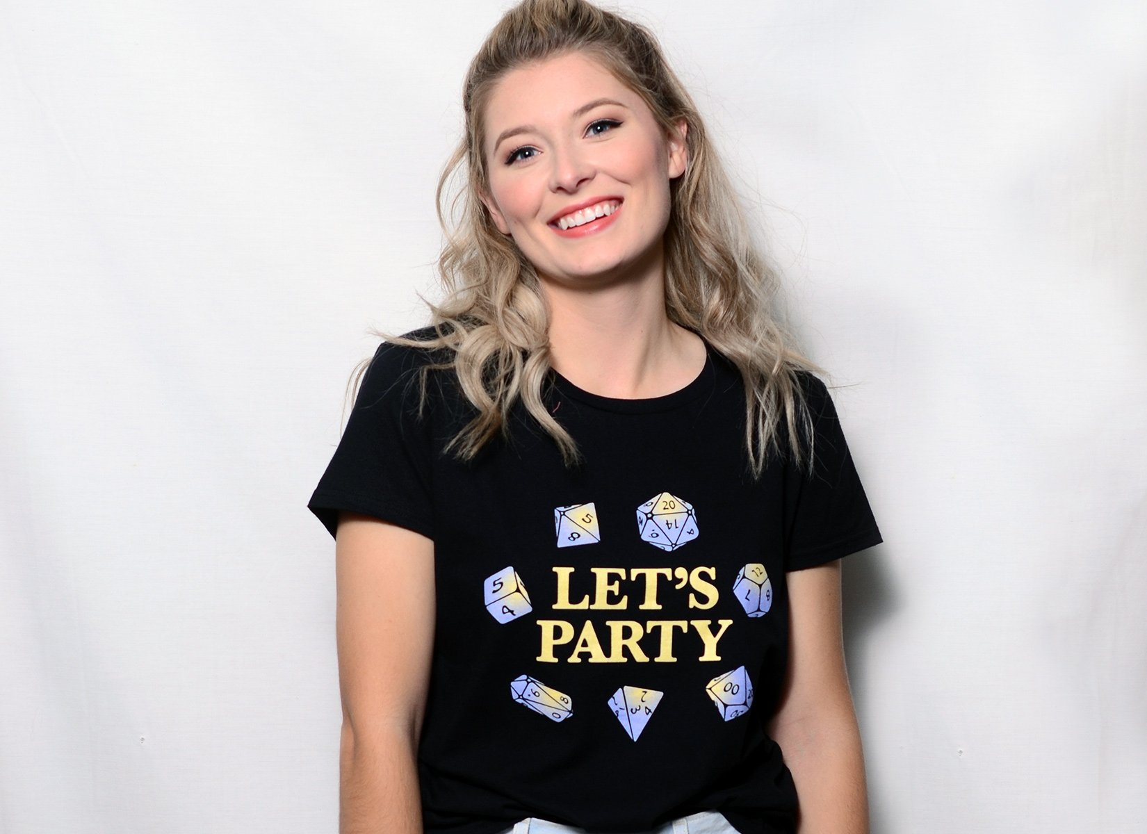 Let's Party Dice on Womens T-Shirt