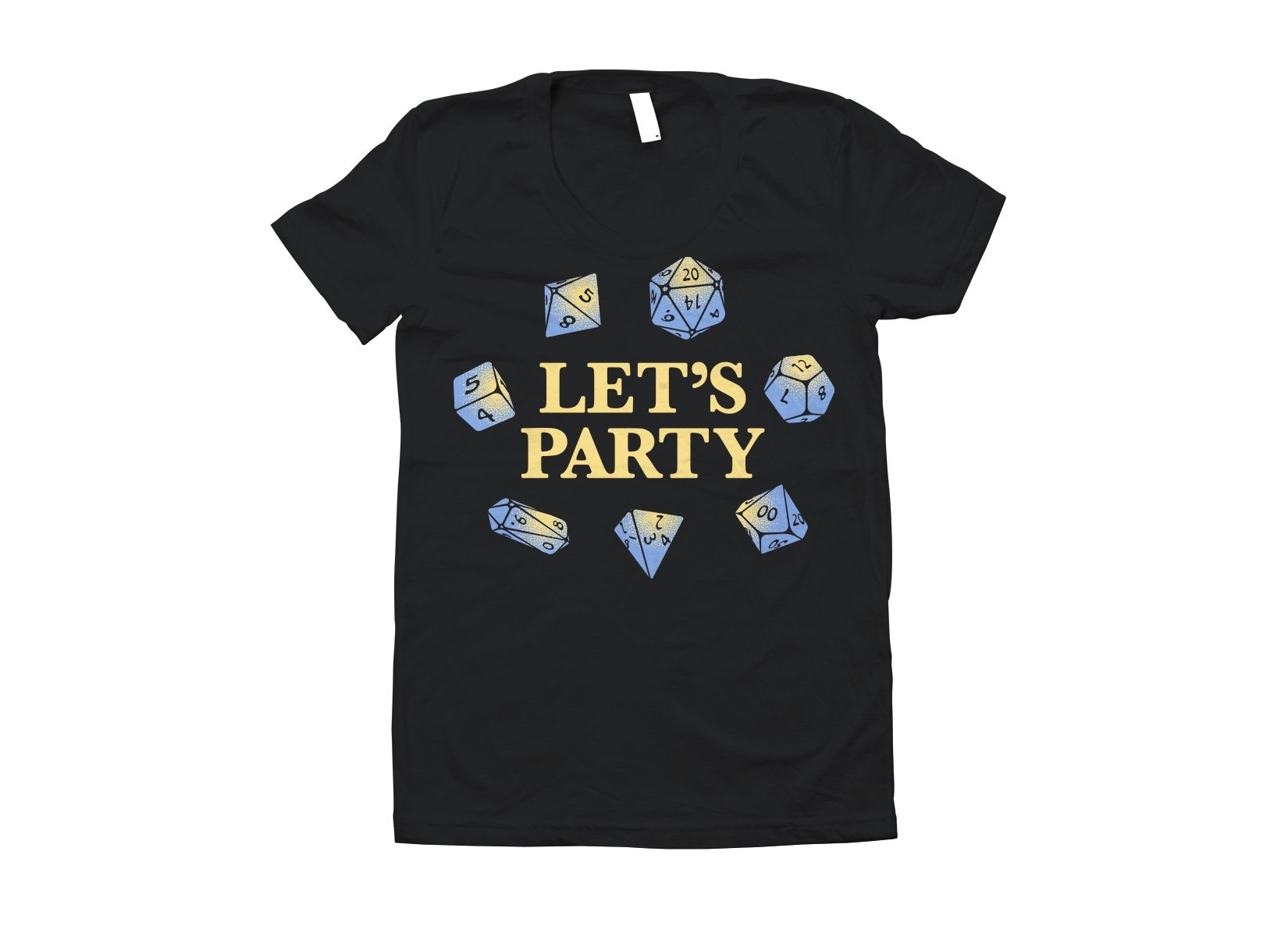 Let's Party Dice on Juniors T-Shirt