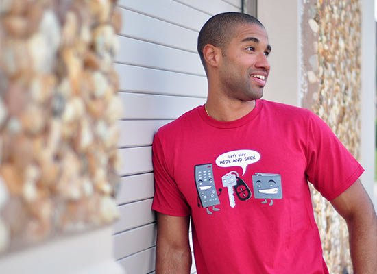 Let's Play Hide And Seek on Mens T-Shirt
