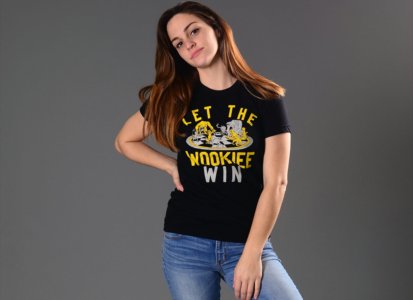 Let The Wookiee Win on Juniors T-Shirt