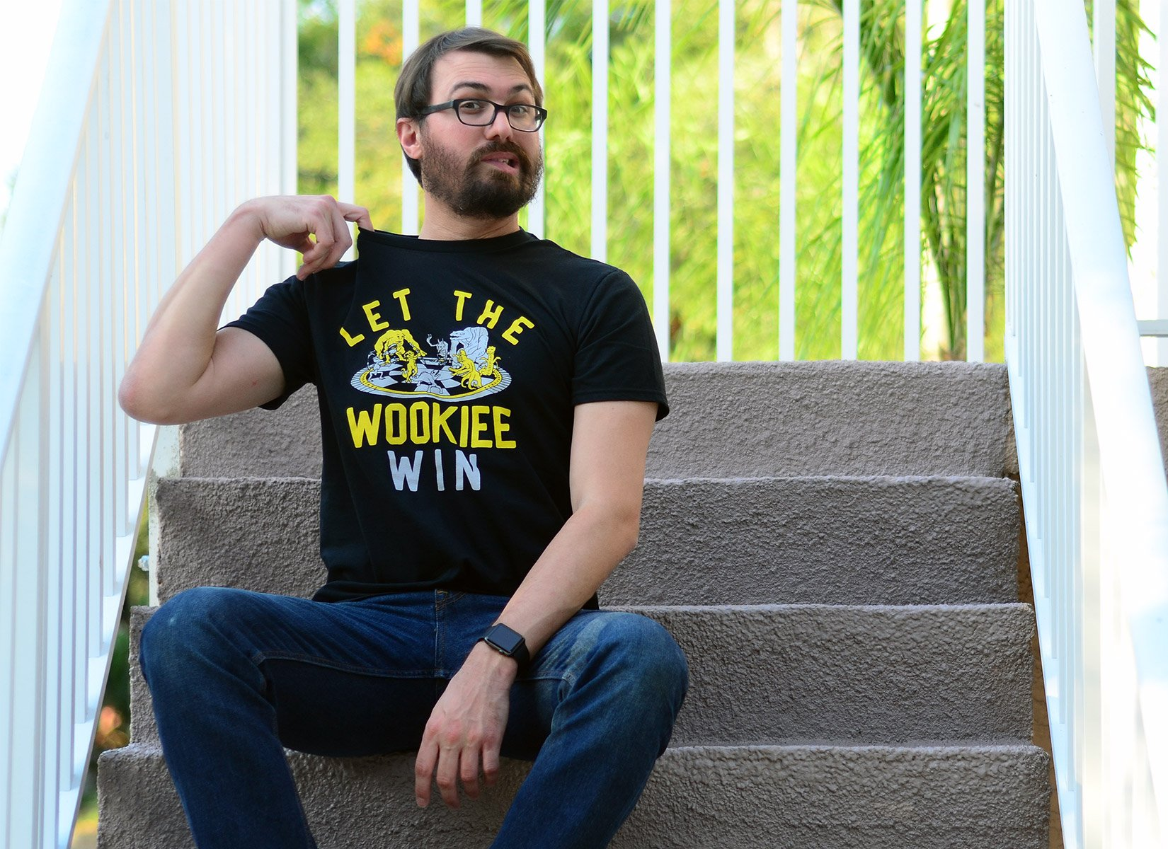 Let The Wookiee Win on Mens T-Shirt
