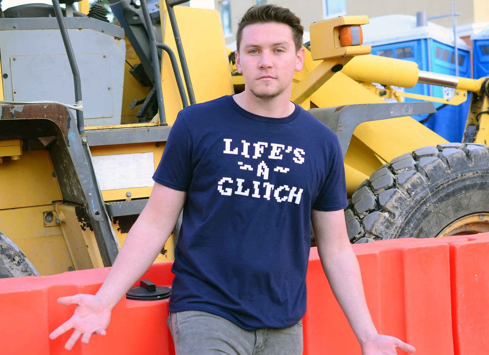 Life's A Glitch on Mens T-Shirt