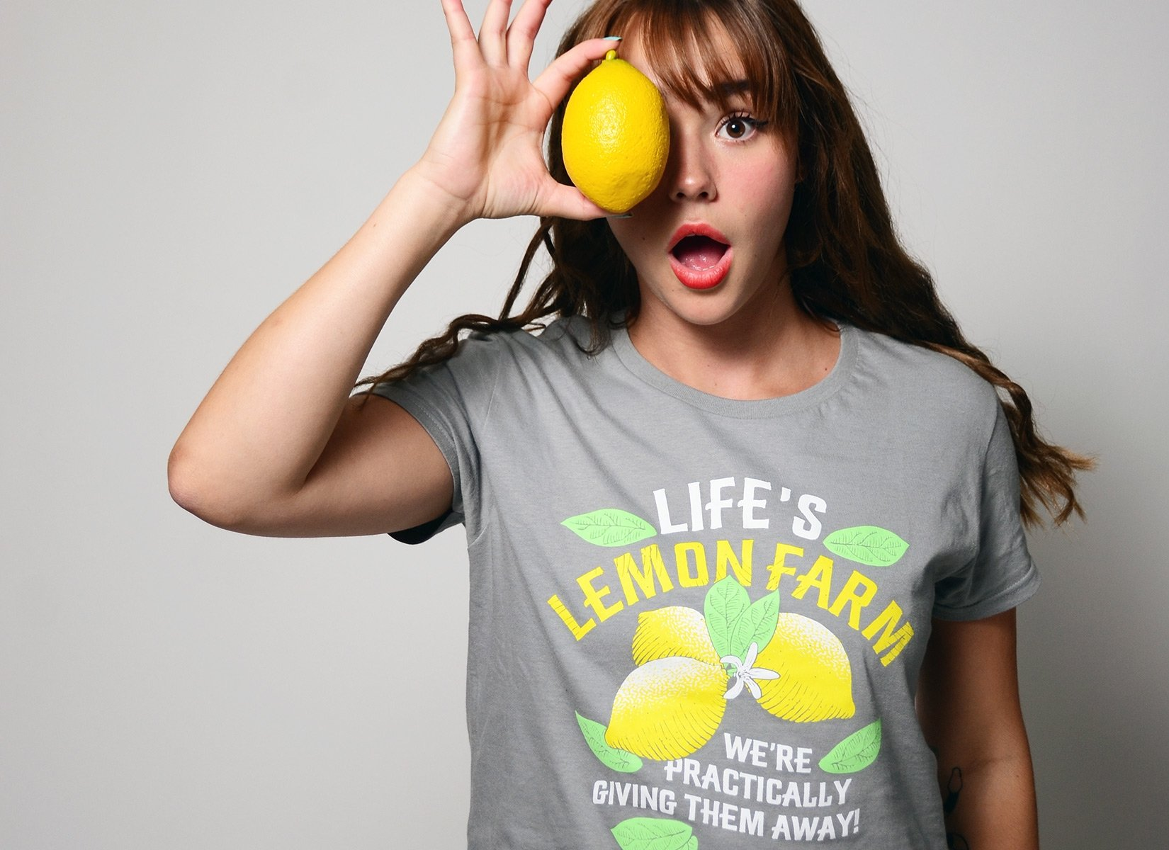 Life's Lemon Farm on Womens T-Shirt