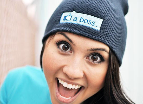 Like A Boss Thumbs Up Beanie on Mens Hats