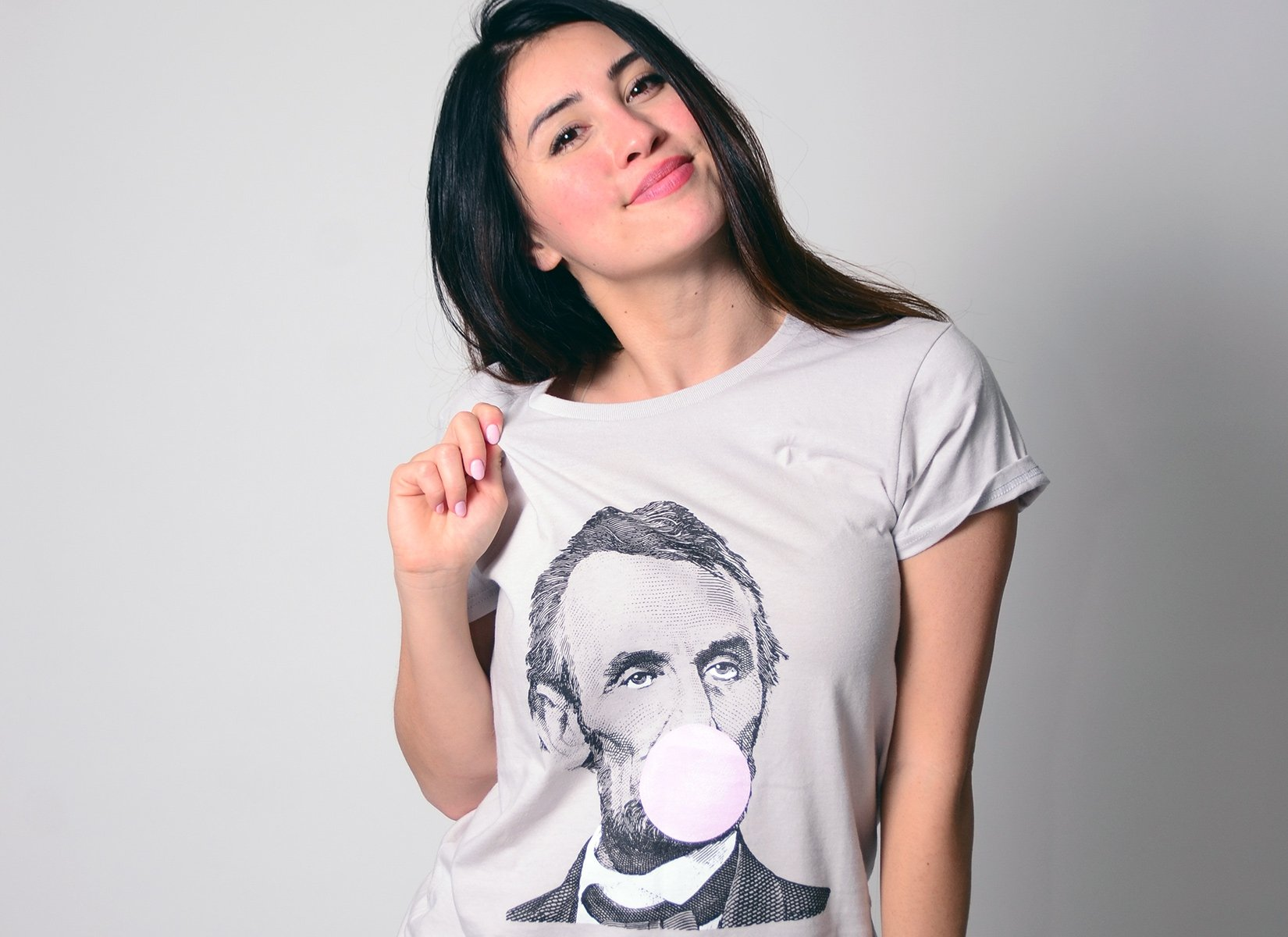 Abe Says Relax on Womens T-Shirt