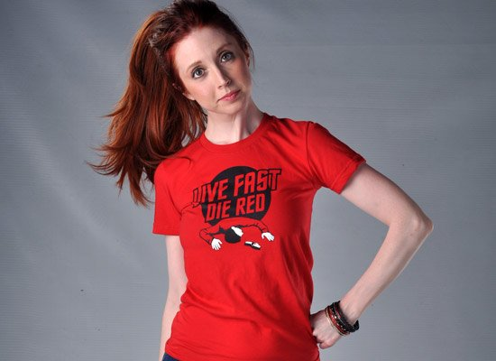 Live Fast Die Red on Juniors T-Shirt