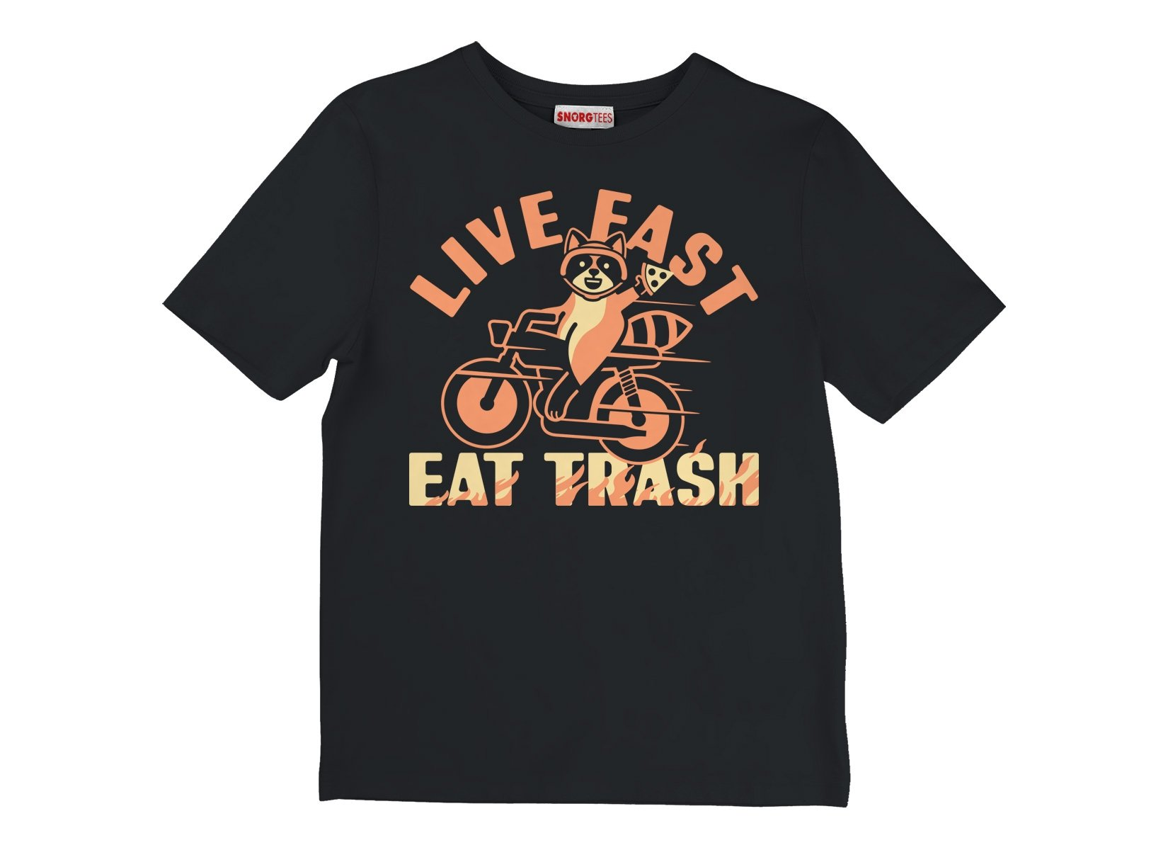 Live Fast Eat Trash on Kids T-Shirt