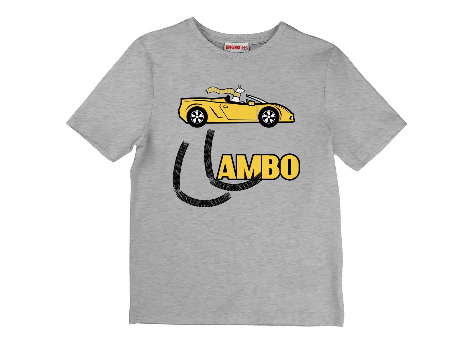 Llambo Llama on Kids T-Shirt