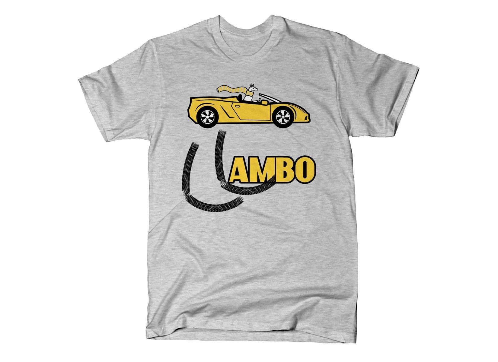 Llambo Llama on Mens T-Shirt