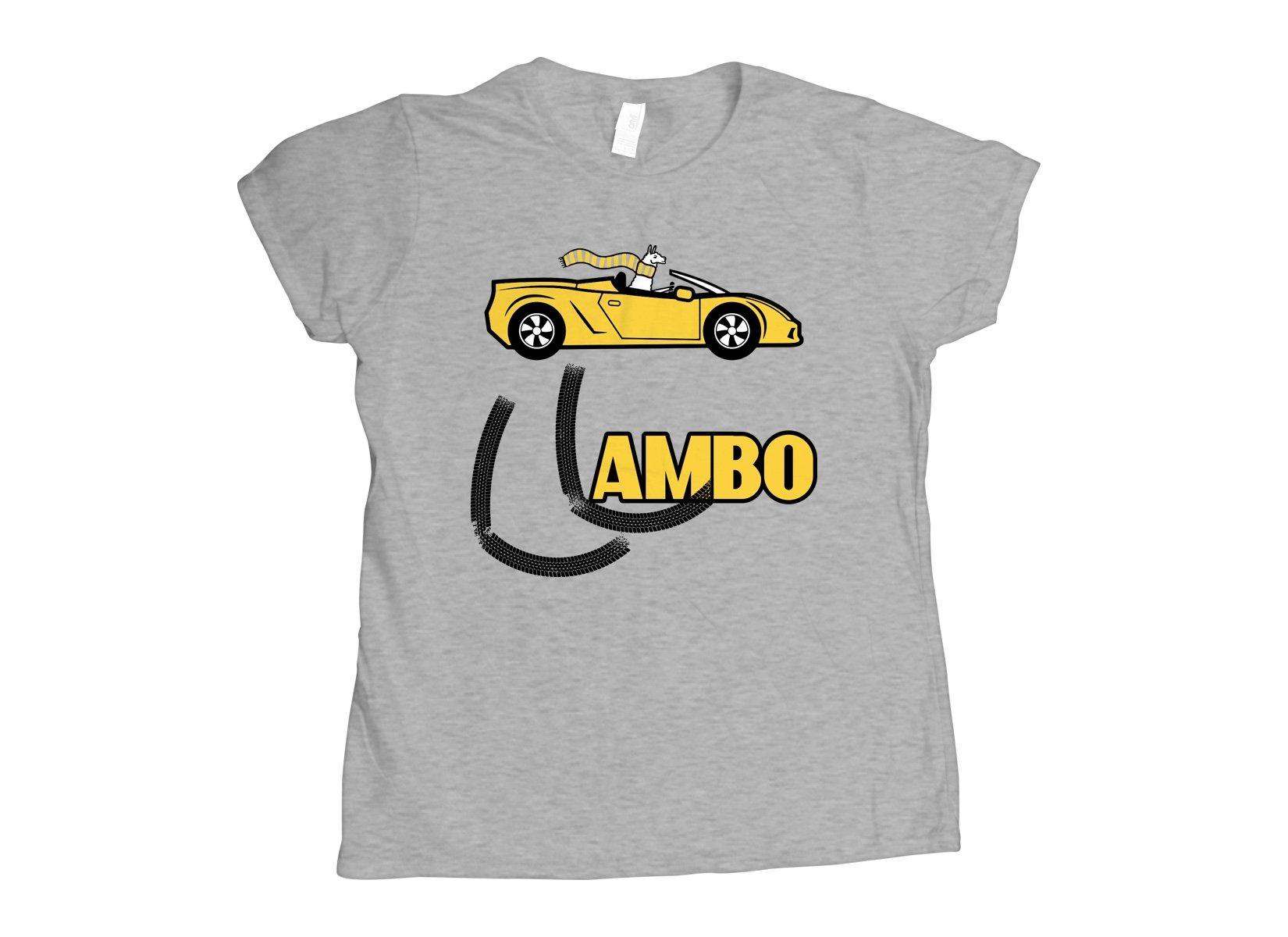 Llambo Llama on Womens T-Shirt