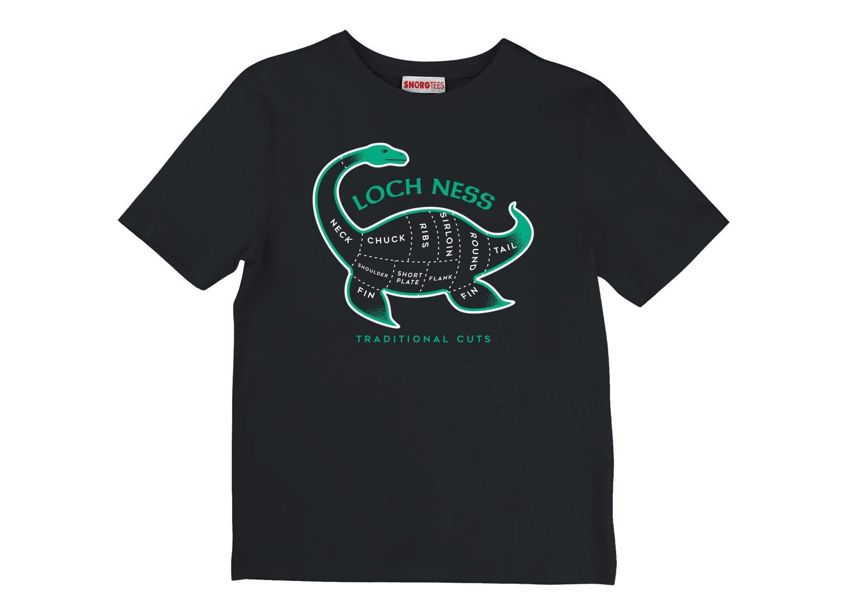Loch Ness Traditional Cuts on Kids T-Shirt