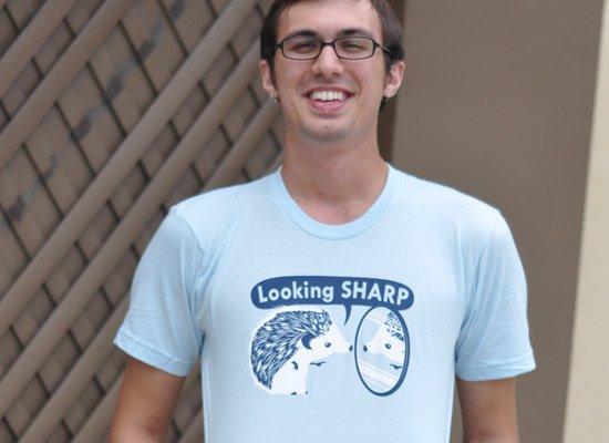 Looking Sharp on Mens T-Shirt