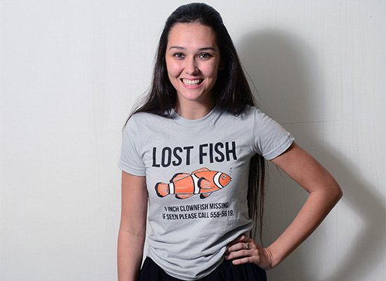 Lost Fish on Juniors T-Shirt