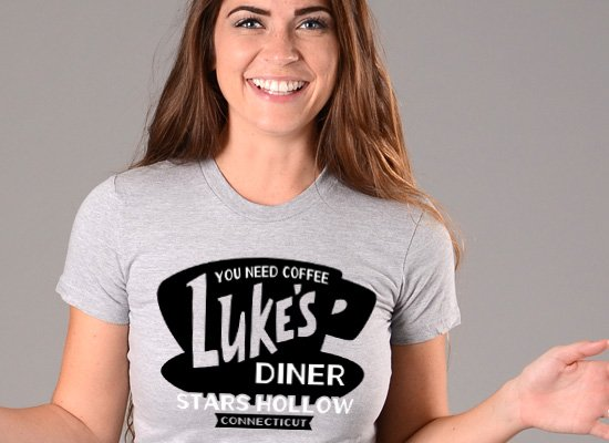 Luke's Diner on Juniors T-Shirt