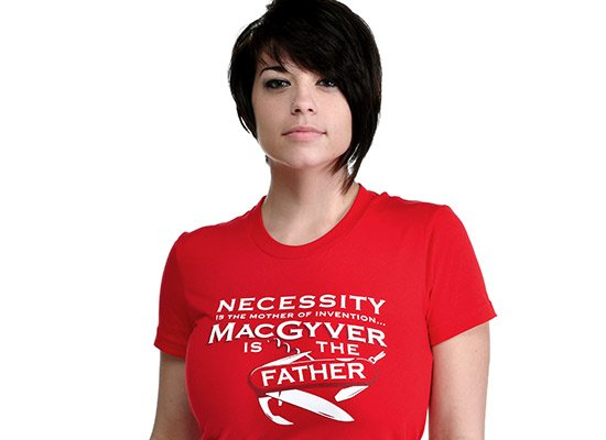 Necessity Is The Mother on Juniors T-Shirt