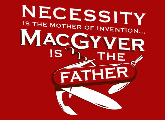 Necessity Is The Mother on Mens T-Shirt