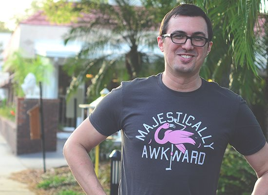 Majestically Awkward on Mens T-Shirt