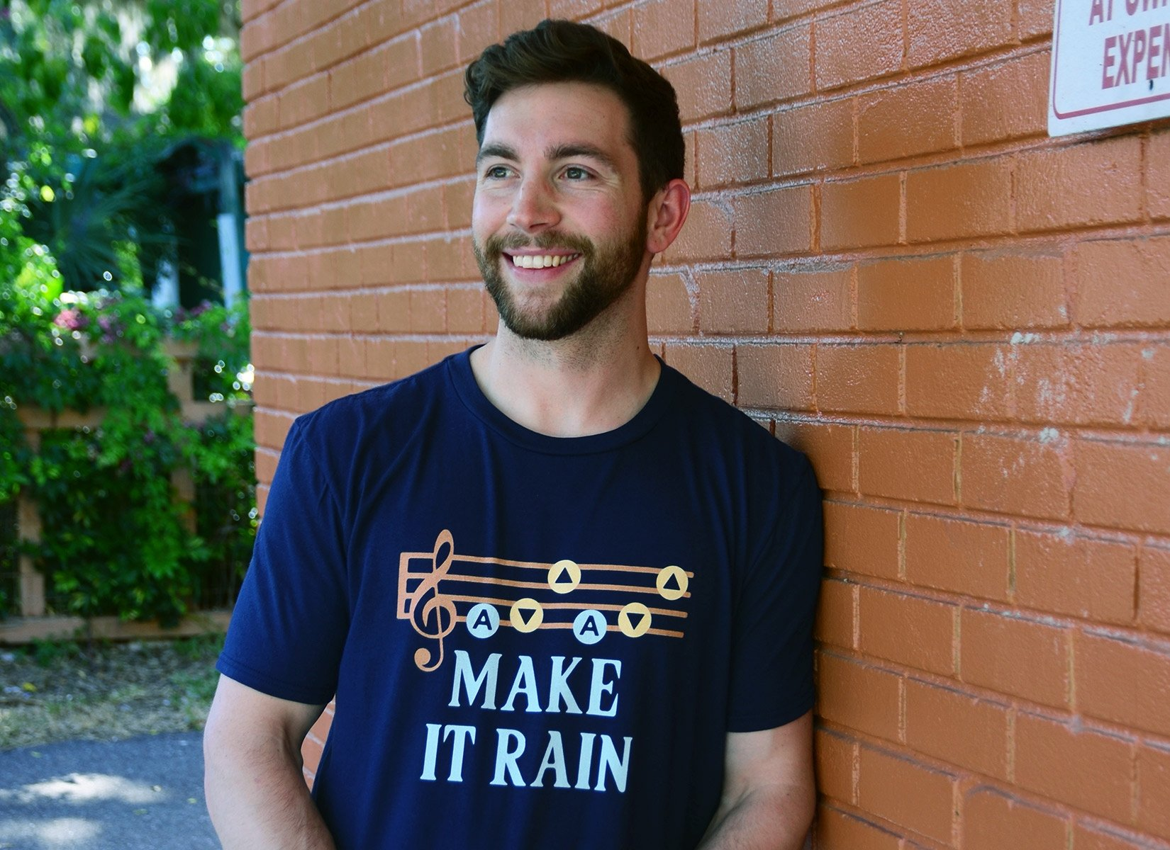 Make It Rain on Mens T-Shirt