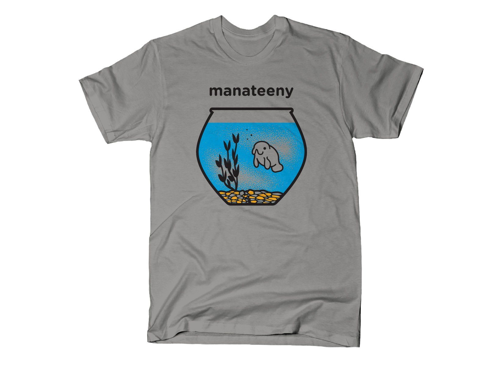 Manateeny on Mens T-Shirt