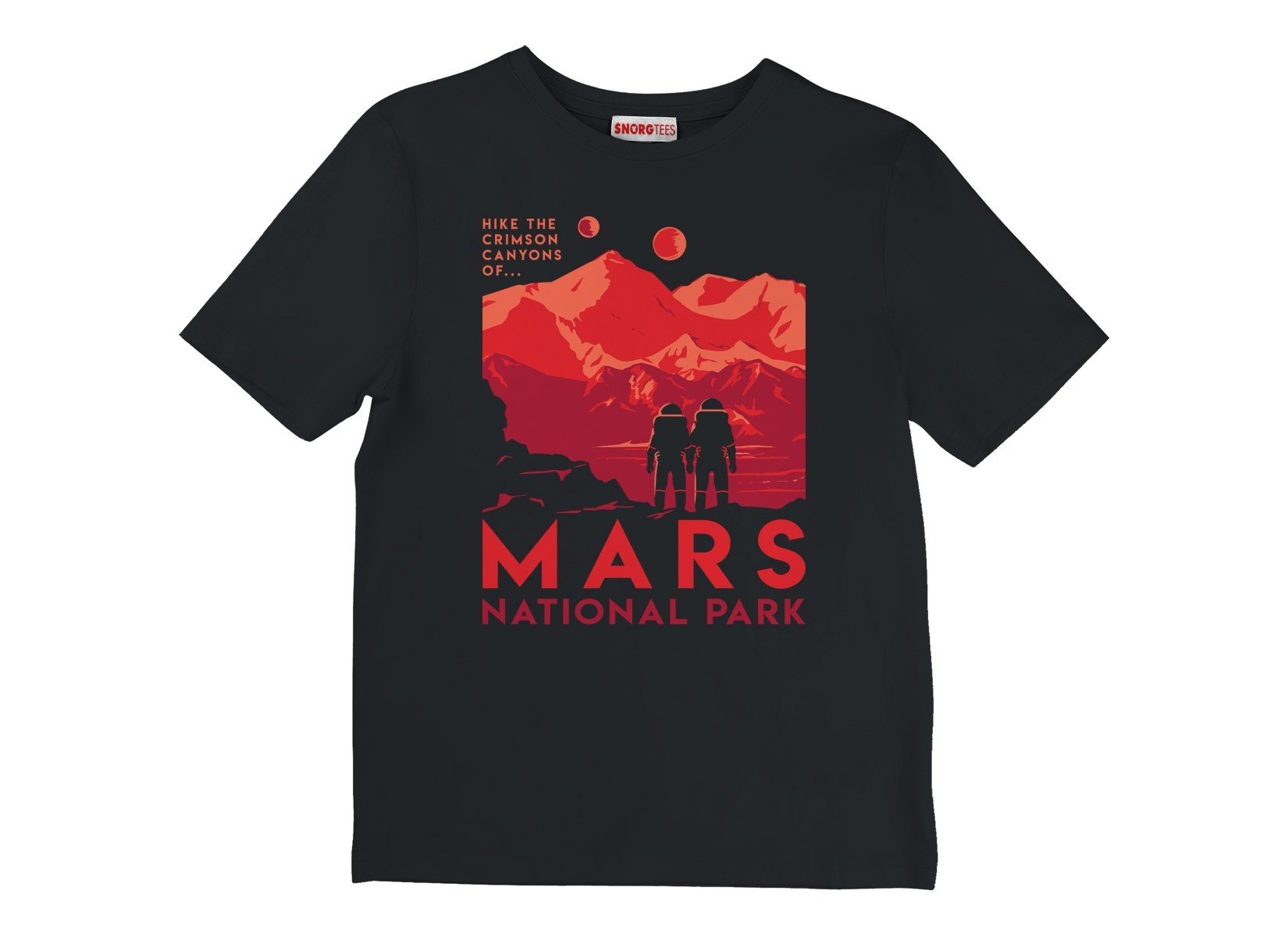 Mars National Park on Kids T-Shirt