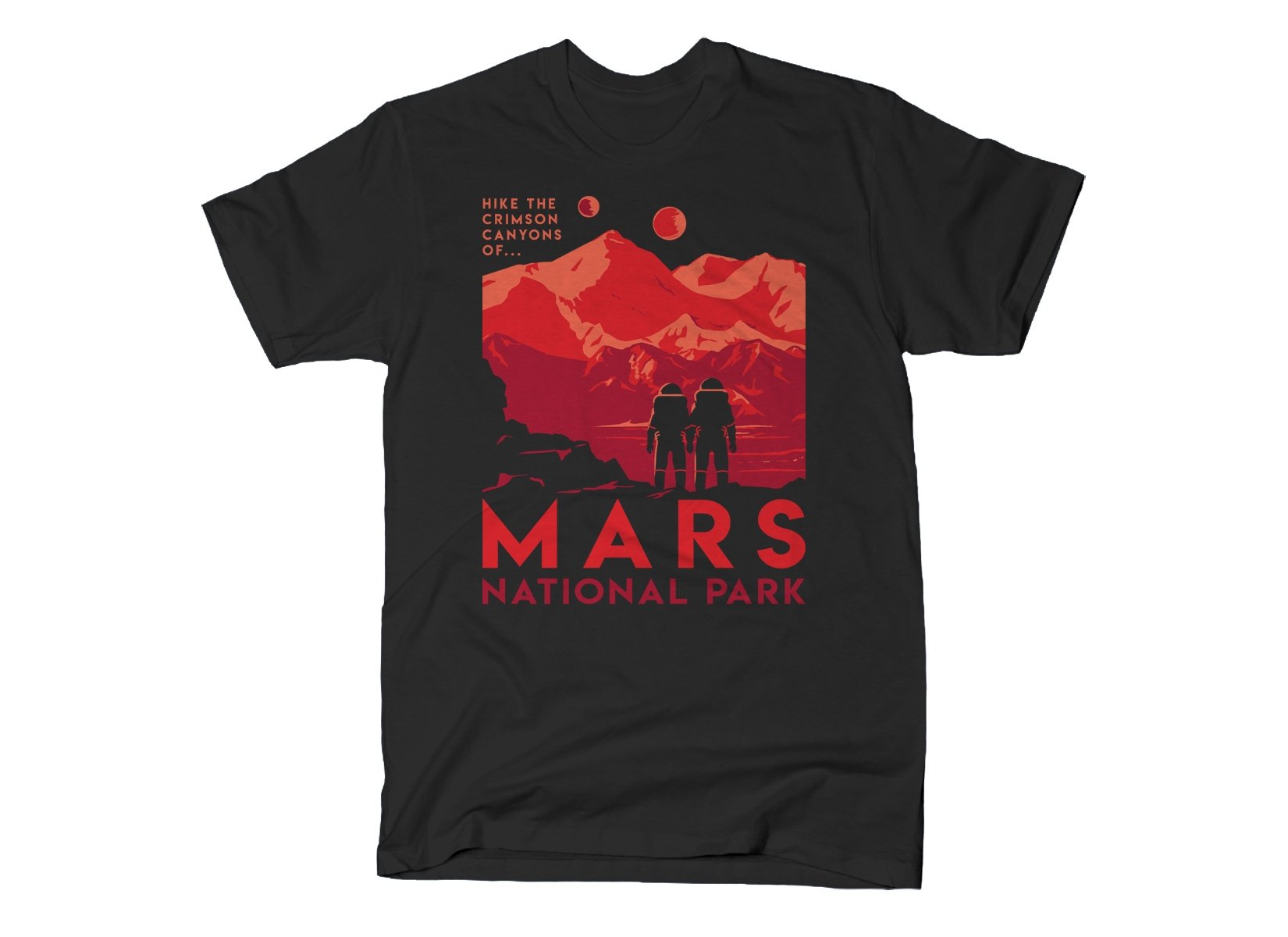 Mars National Park on Mens T-Shirt