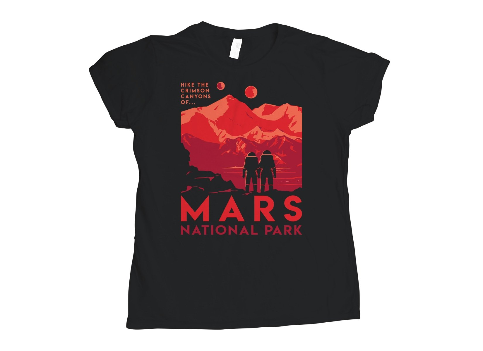Mars National Park on Womens T-Shirt