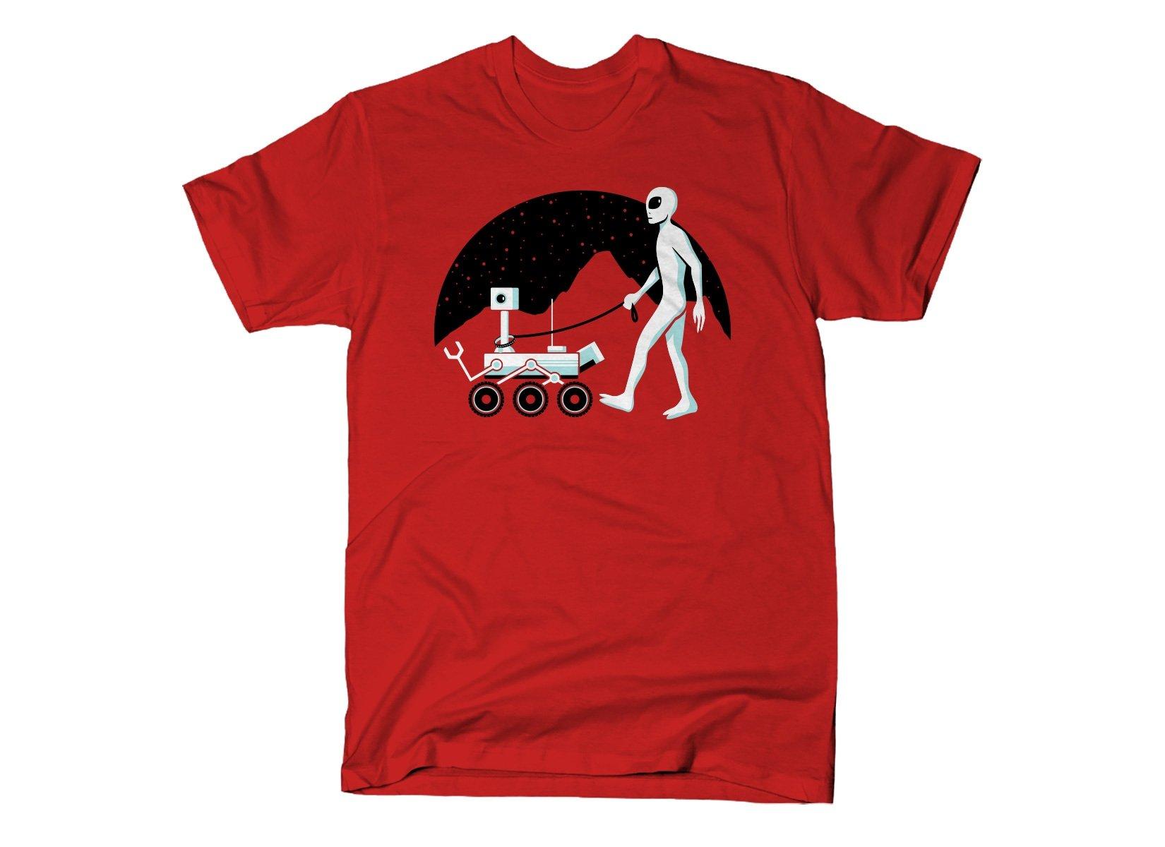 Mars Rover on Mens T-Shirt