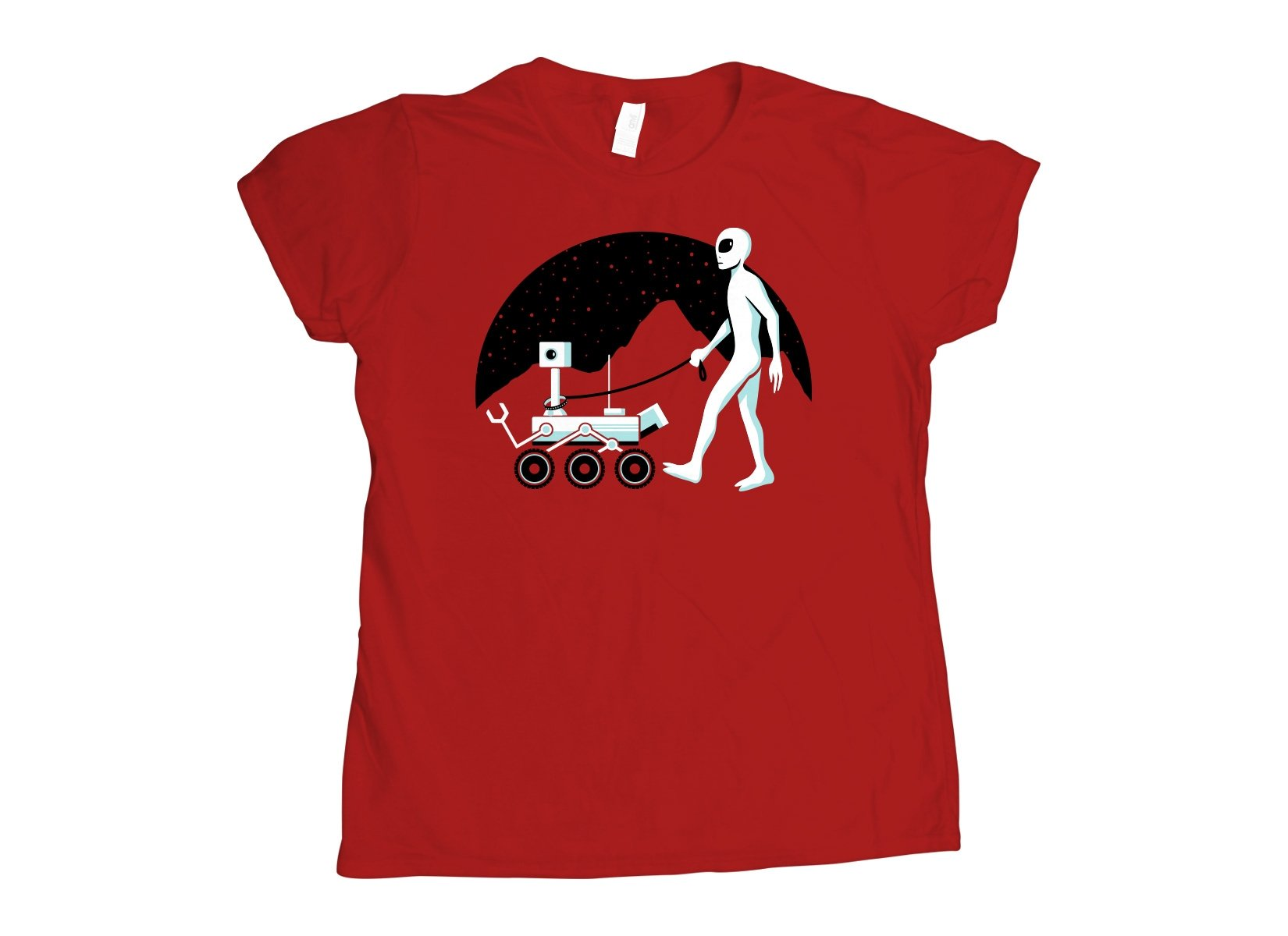 Mars Rover on Womens T-Shirt